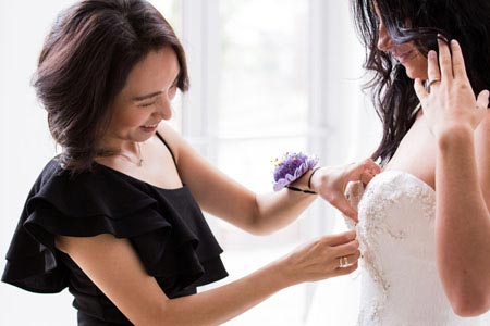 Angela Kim Custom Bridal Gown Fitting