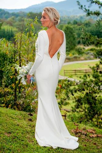 Heidi in Her Custom Silk Bridal Gown