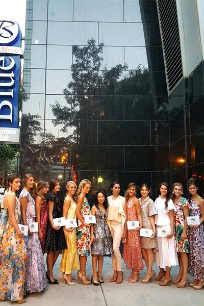Angela Kim with her Charlotte Fashion Week models