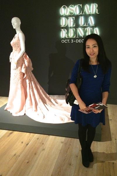 Angela Kim at Oscar de la Renta Exhibit