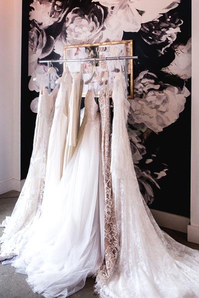 Angela Kim Couture Custom Wedding Dresses on Display