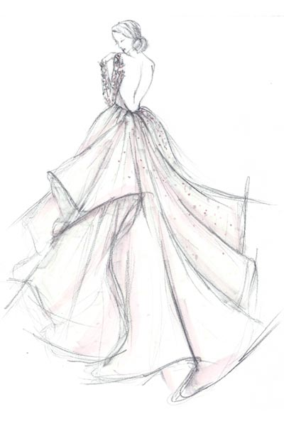 Custom Couture Bridal Gown Sketch