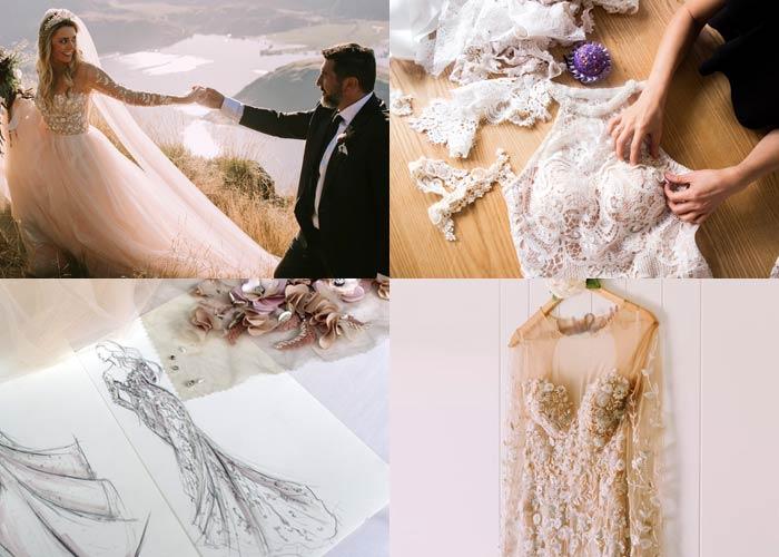 Custom wedding dress design process