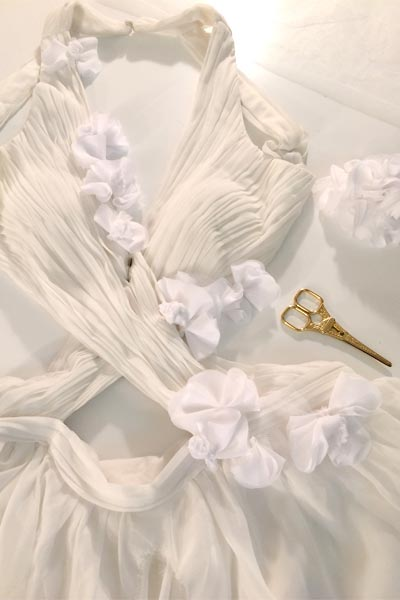 Sexy white custom wedding dress